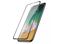 Folie Protectie Ecran Baseus pentru Apple iPhone X / Apple iPhone XS, Sticla securizata, Full Face, Neagra, Blister
