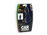 Incarcator Auto cu fir spiralat Lightning OEM, 1 X USB, Negru, Bulk
