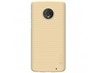 Husa Plastic Nillkin Frosted pentru Motorola Moto G6 Plus, Aurie, Blister