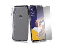 Husa TPU + Folie Ecran Tempered Glass Phonix Pentru Asus Zenfone Max Pro (M1) ZB601KL Transparenta Blister ASZMPPP