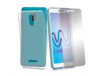 Husa TPU + Folie Ecran Tempered Glass Phonix Pentru Wiko Jerry 3 Transparenta Blister WKJE3PP