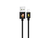 Cablu Date si Incarcare USB la Lightning Usams SJ234 U8 Lovely, 1.2 m, Negru, Blister