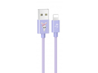 Cablu Date si Incarcare USB la Lightning Usams SJ234 U8 Lovely, 1.2 m, Mov, Blister