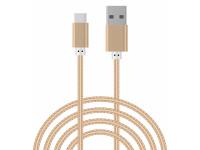 Cablu Date si Incarcare USB la USB Type-C OEM, 1.5 m, Auriu, Bulk