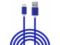 Cablu Date si Incarcare USB la USB Type-C OEM, 1.5 m, Albastru, Bulk