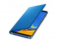 Husa Samsung Galaxy A9 (2018), Flip Wallet, Albastra, Blister EF-WA920PLEGWW