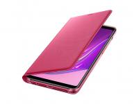 Husa Samsung Galaxy A9 (2018), Flip Wallet, Roz, Blister EF-WA920PPEGWW