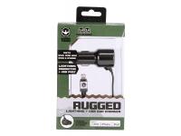 Incarcator Auto cu fir Lightning Gecko RUGGED, 1 X USB, Negru, Blister GG520002