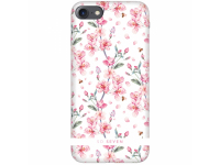Husa Plastic SoSeven Tokyo Cherry pentru Apple iPhone 7 / Apple iPhone 8, Alba, Blister