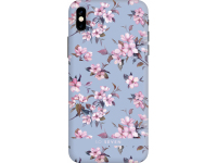 Husa Plastic SoSeven Tokyo Cherry pentru Apple iPhone 7 / Apple iPhone 8, Albastra, Blister