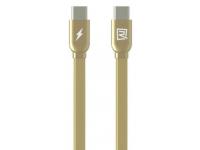 Cablu Date si Incarcare USB Type-C la USB Type-C Remax RC-046a, 1 m, Auriu, Blister