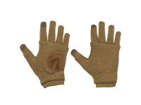 Manusi iarna Touchscreen Sensitive Fingerless caramel