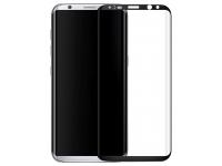 Folie Protectie Ecran Mr. Monkey Glass Samsung Galaxy S8+ G955, Sticla securizata, Full Face, Edge Glue, Hot Bending, Neagra, Blister