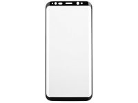 Folie Protectie Ecran Mr. Monkey Glass Samsung Galaxy S9 G960, Sticla securizata, Full Face, Edge Glue, Hot Bending, Neagra, Blister