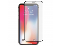 Folie Protectie Ecran Mr. Monkey Glass Apple iPhone X, Sticla securizata, Full Face, Full Glue, Hot Bending, Neagra, Blister