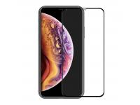 Folie Protectie Ecran Enkay pentru Apple iPhone X / Apple iPhone XS, Sticla securizata, Full Face, 6D, Neagra, Blister