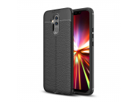 Husa TPU OEM Litchi pentru Huawei Mate 20 Lite, Neagra