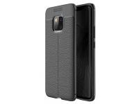 Husa TPU OEM Litchi pentru Huawei Mate 20 Pro, Neagra, Bulk