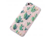 Husa TPU OEM Cactus pentru Apple iPhone 7 / Apple iPhone 8, Multicolor, Bulk