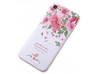 Husa TPU OEM Peony pentru Apple iPhone 7 / Apple iPhone 8, Multicolor, Bulk