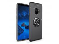 Husa TPU Lenuo Invisible Holder pentru Samsung Galaxy S9+ G965, Neagra, Blister