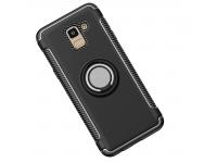 Husa TPU OEM Magnetic 360 pentru Samsung Galaxy J6 J600, Neagra, Bulk