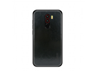 Husa Mofi Leather pentru Xiaomi Pocophone F1, Neagra, Blister
