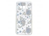 Husa TPU OEM Blue Flower Samsung Galaxy S8 G950, Multicolor, Bulk