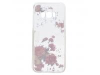 Husa TPU OEM Pink Flower Samsung Galaxy S8 G950, Multicolor, Bulk