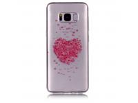 Husa TPU OEM Heart Sakura Samsung Galaxy S8+ G955, Multicolor, Bulk
