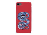 Husa TPU OEM Blue Snake Apple iPhone 7 / Apple iPhone 8, Multicolor, Bulk