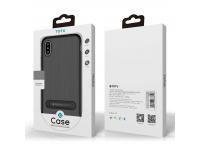 Husa TPU Totu Design Slim Carbon pentru Apple iPhone X / Apple iPhone XS, Neagra, Blister