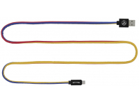 Cablu Date si Incarcare USB la MicroUSB Tellur FRF, 1 m, Multicolor, Blister FRF000002