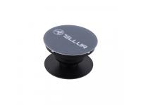 Suport Stand Adeziv Tellur Plastic pentru telefon  Gri Blister   TLL171051