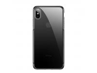 Husa TPU Baseus Shining pentru Apple iPhone X / Apple iPhone XS, Neagra - Transparenta, Blister