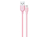 Cablu Date si Incarcare USB la Lightning Remax RC-031I, 1 m, Roz, Blister
