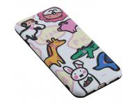 Husa TPU OEM Cute Animal pentru Apple iPhone 7 / Apple iPhone 8, Multicolor, Bulk