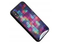 Husa TPU OEM Glass Case Magic Cube pentru Apple iPhone X / Apple iPhone XS, Multicolor, Bulk