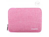Husa Textil Haweel pentru Tableta 7.9 inci, Dimensiuni interioare 220 x 155 mm, Waterproof, Roz, Bulk