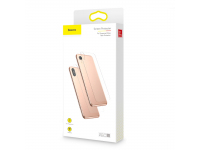 Folie Protectie Spate Baseus pentru Apple iPhone X / Apple iPhone XS, Sticla securizata, Edge Glue, Blister