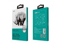 Folie Protectie Camera spate si Spate Totu Design pentru Apple iPhone XS Max, Sticla securizata, Edge Glue, Rhino Family, Gri, Blister