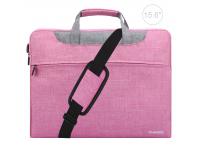 Husa textil laptop 15.6 inci Haweel Roz