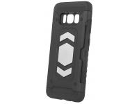 Husa Plastic - TPU OEM Defender pentru Samsung Galaxy A6+ (2018) A605, Neagra, Bulk