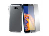 Husa silicon TPU + Folie ecran Tempered Glass Phonix Pentru Samsung J4 Plus (2018) J415, Blister