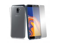 Husa silicon TPU + Folie ecran Tempered Glass Phonix Pentru Samsung J6 Plus, Blister