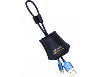 Cablu Date si Incarcare USB la Lightning Usams SJ117, 0.25m, Albastru, Blister