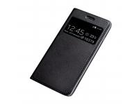 Husa Piele OEM Smart Look pentru Huawei P smart Plus, Neagra, Bulk
