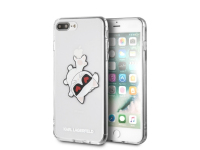 Husa Plastic Karl Lagerfeld Choupette Fun pentru Apple iPhone 7 Plus / Apple iPhone 8 Plus, Transparenta, Blister KLHCI8LCFHE