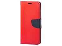 Husa Piele OEM Fancy Universala pentru Telefon 4.8 inci - 5.3 inci, Bleumarin - Rosie, Bulk