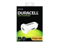 Incarcator Auto USB Duracell DR5020W, 2.4A, 1 X USB, Alb, Blister